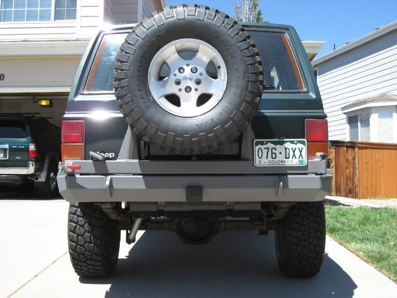 Bpi Fab Jeep Cherokee Xj Rear Bumper With Tire Carrier Will Hold Up To A 35 Tire Securely D Rings 2 Hitch Tie In Br Jeep Cherokee Xj Jeep Xj Mods Jeep Xj