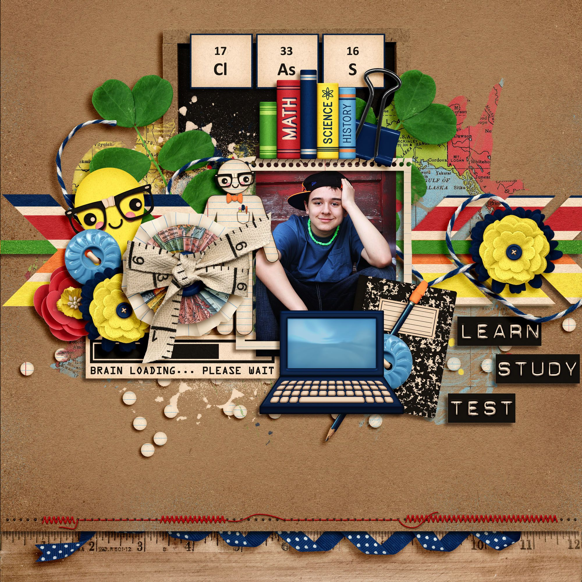 Nerd Alert by Kristin Aagard Designs Retired Template by Crystal Livesay Designs Bad Sewing Machine Stitches by Traci Reed