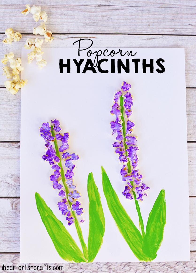 I Love Tactile Art Projects Using Paint And POPCORN Creates A Fun Beautiful Hyacinth Flower Project