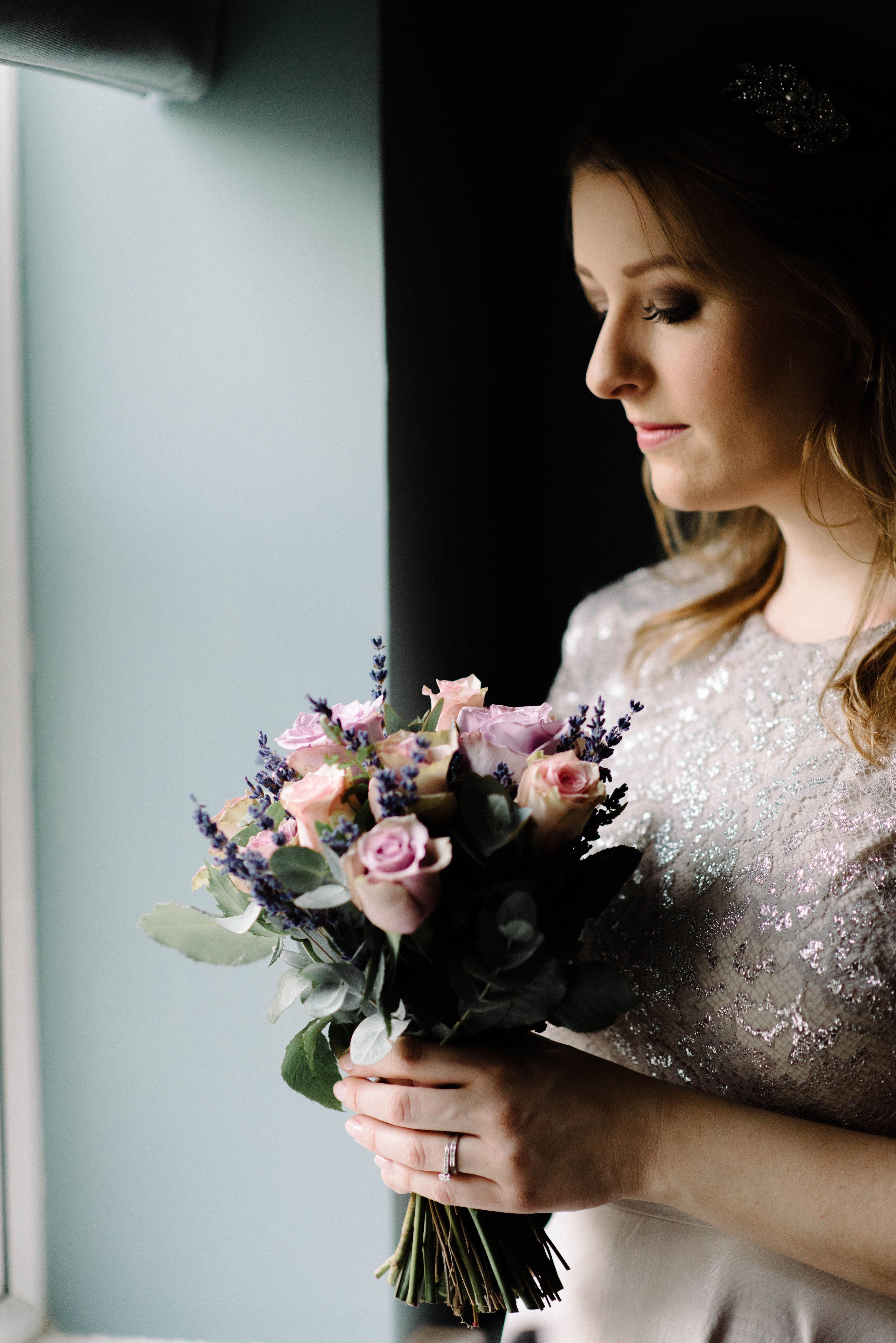 Using window light... Wedding flowers, wedding bouquet