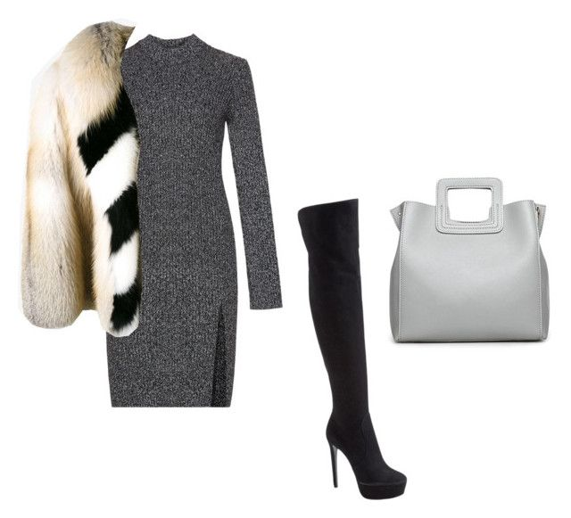 """""""Untitled #3534"""" by caffeinatedfashionista ❤ liked on Polyvore featuring BCBGMAXAZRIA, Prada and Off-White"""