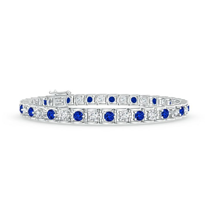 Angara Sapphire and Diamond Tennis Bracelet in Yellow Gold fkTAGh