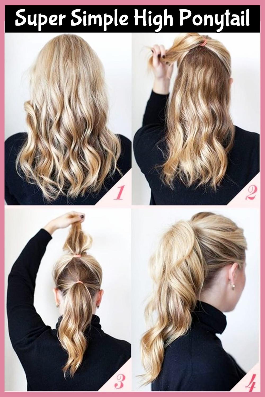Tipp Eine Bessere Und Sassier Poofy Pferdeschwanz In Weniger Als 5 Minuten In 2020 Office Hairstyles Hair Styles Ponytail Hairstyles Easy