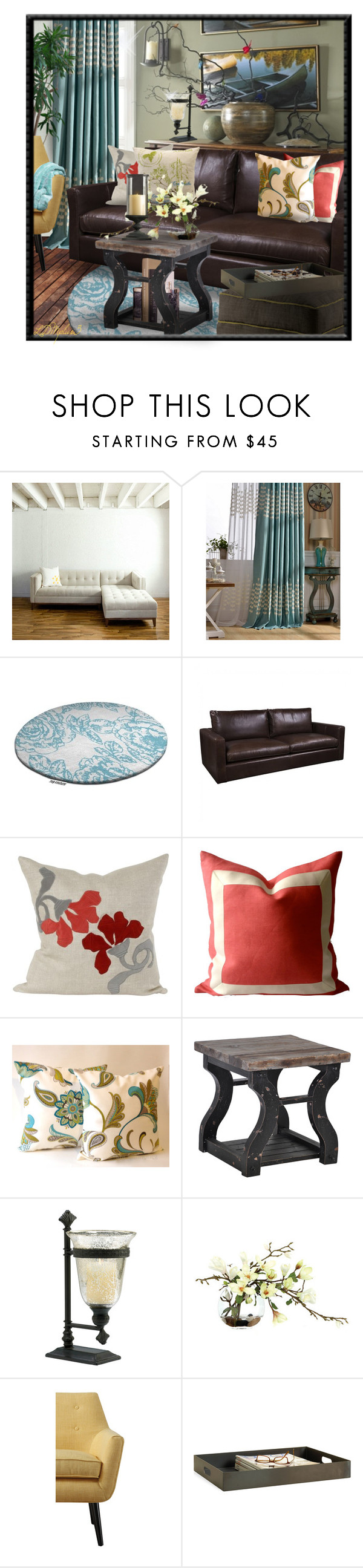 """""""Sitting Pretty"""" by ldmplus3 ❤ liked on Polyvore featuring interior, interiors, interior design, home, home decor, interior decorating, Gus* Modern, Fine Furniture Design, V Rugs & Home and Off-White"""