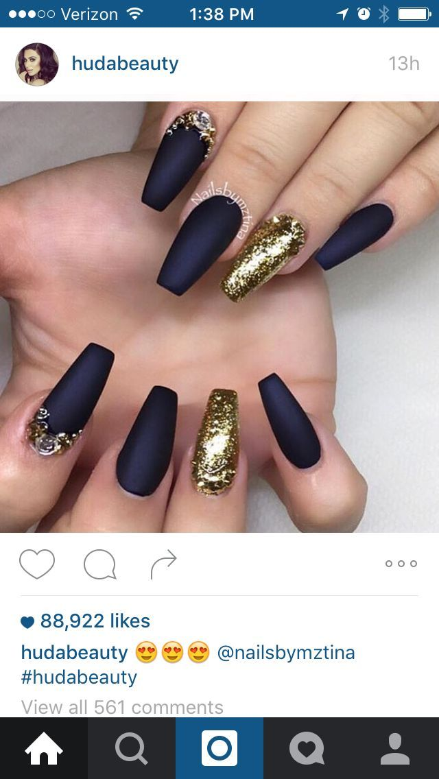 Nice Navy Blue And Gold Matte