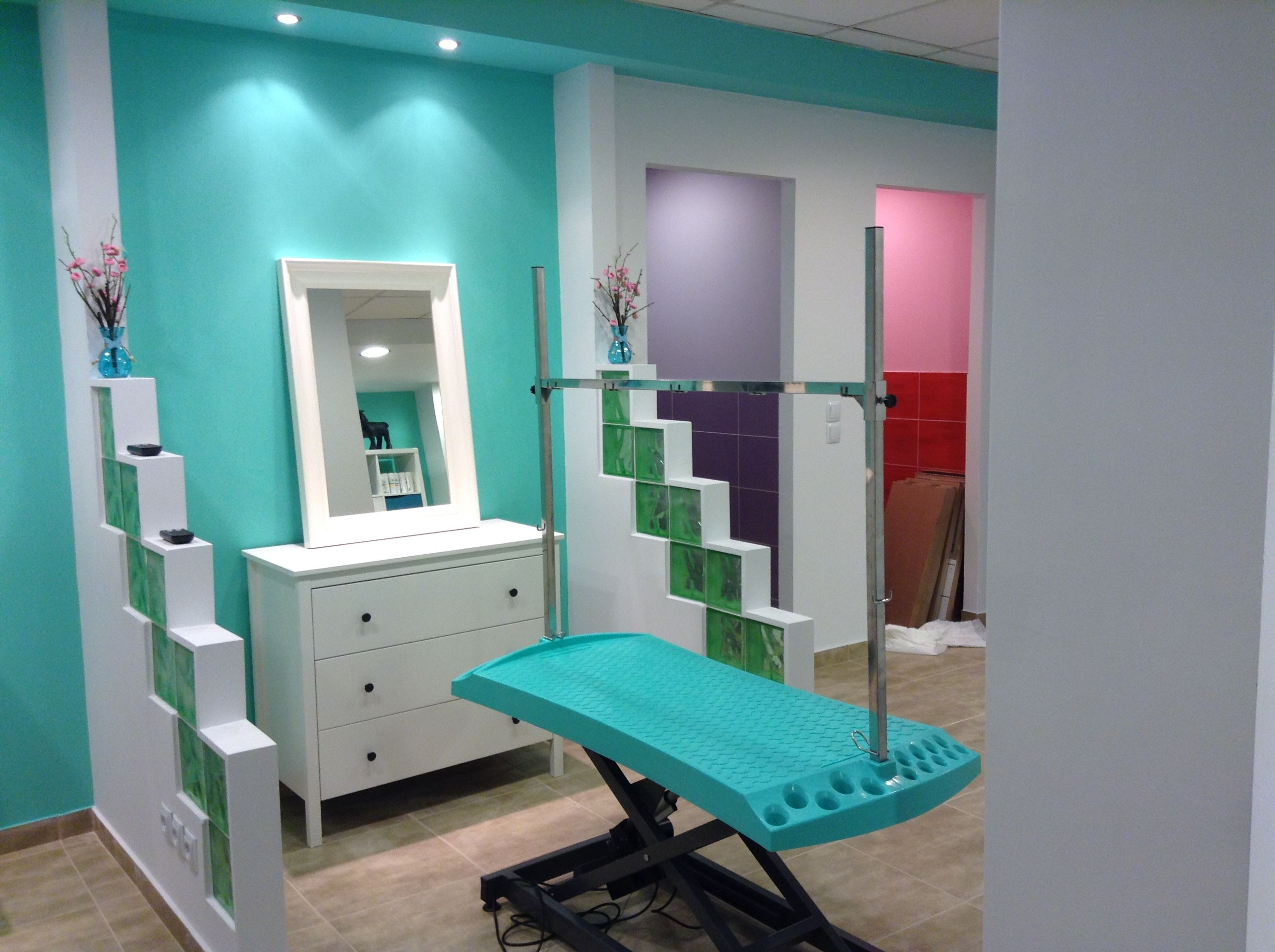 repinned Interior of dog grooming salon Dog grooming