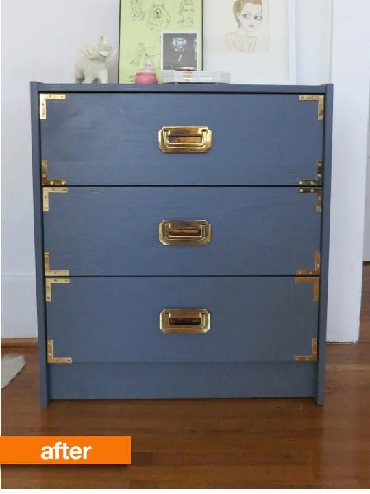 Before & After: Molly's IKEA Rast Turned Campaign Chest
