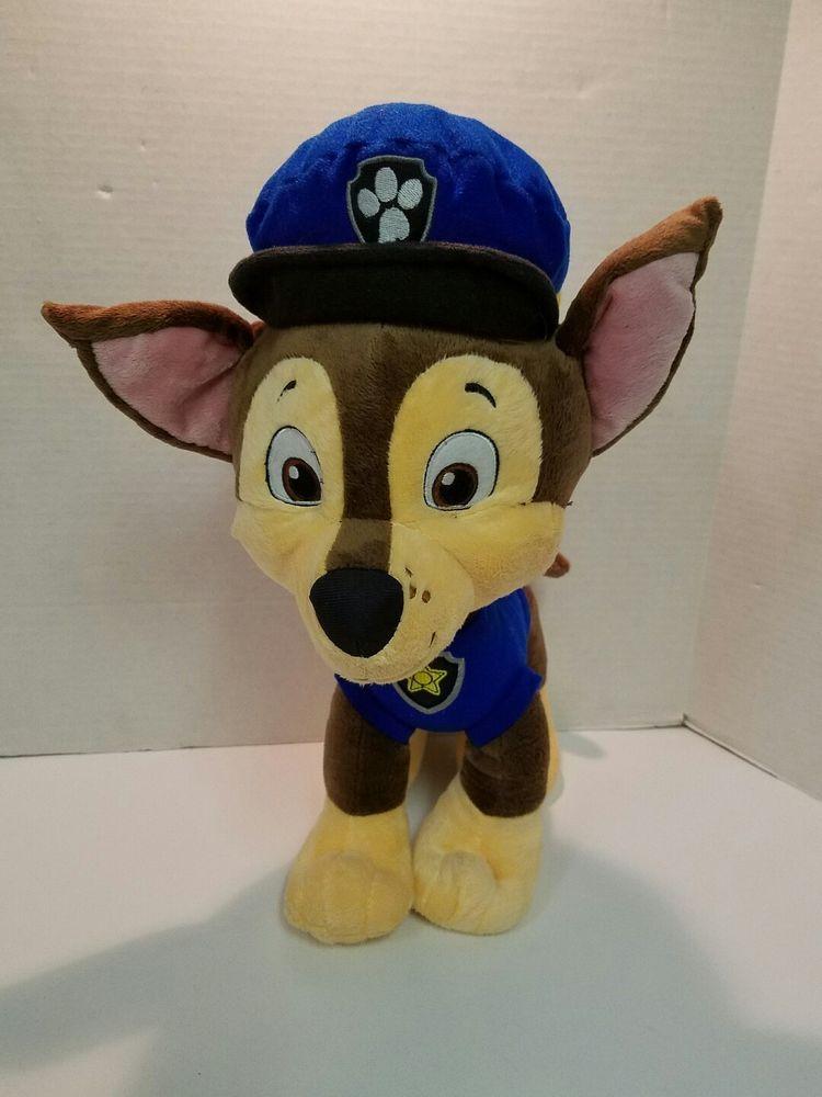 Paw Patrol Chase 15 Plush Police Dog Toy With Backpack Euc