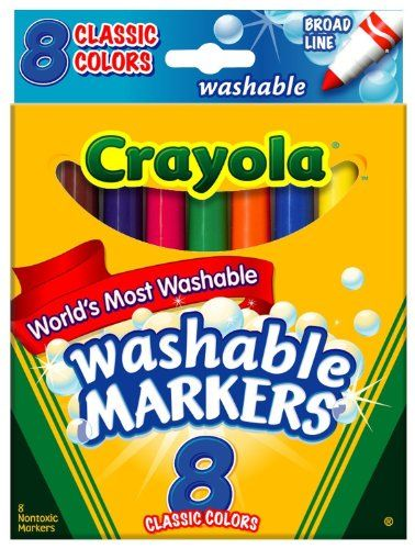 58-7808 8//Pack Crayola Washable Markers Classic Colors Broad Point