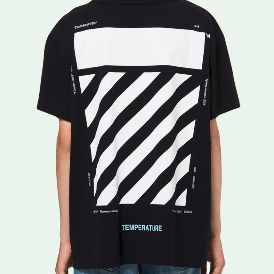 579bde997332  380 Off White 18SS Temperature tee