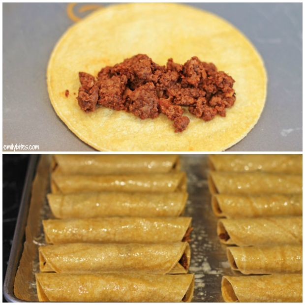 Spicy Beef Taquitos #footballpartyfood