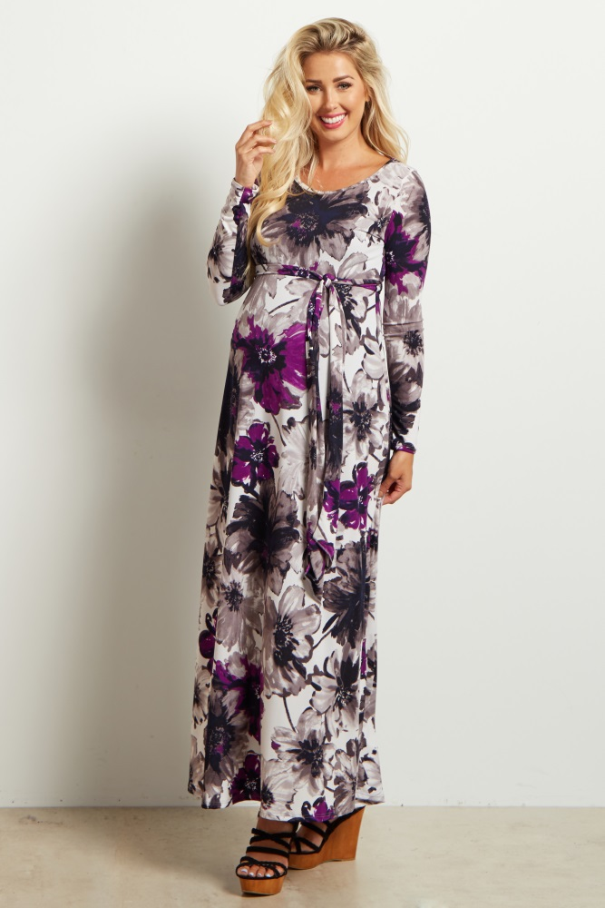 8926cbb5b This cute long sleeve floral maternity maxi dress is so perfect for  anything occasion! It s