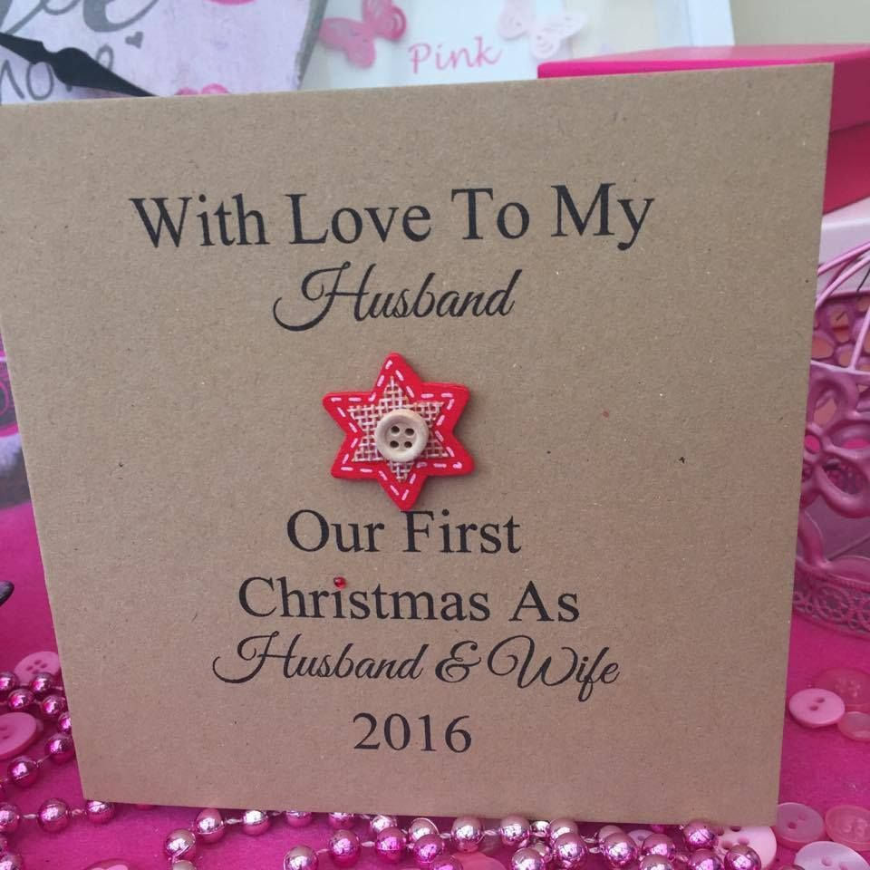 Personalised Christmas Card First Christmas Husband And Wife Couple Mr Mrs