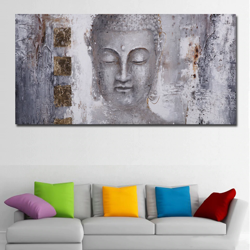 Large Size Poster Canvas Art Abstract Art Buddha Painting Wall Art For Living Room Home Decor Modern Art Prin Buddha Painting Painting Abstract Canvas Painting