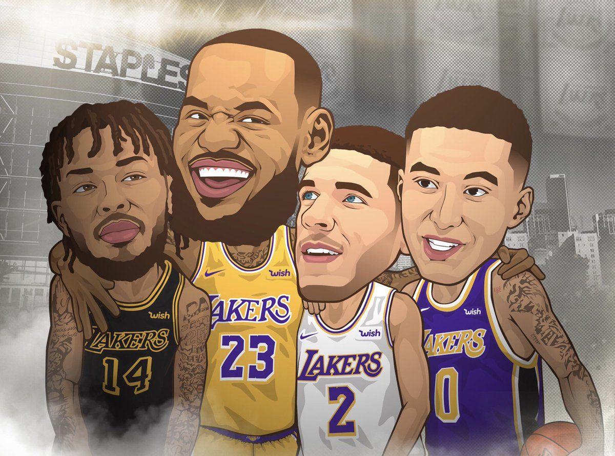 Lakers Big 4 Lakers Nba Players Los Angeles Lakers