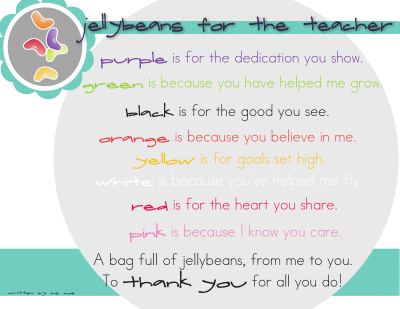 Jellybean poem for teacher bags this may be the best idea ive fou jellybean poem for teacher bags this may be the best idea ive found negle Images