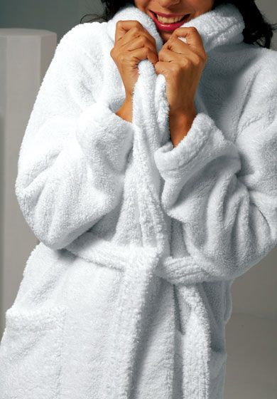 036de59cc5 a big fluffy robe (and fuzzy slippers). Putting on a warm Terry cloth robe  after taking a shower. thebrunetteone I c est moi