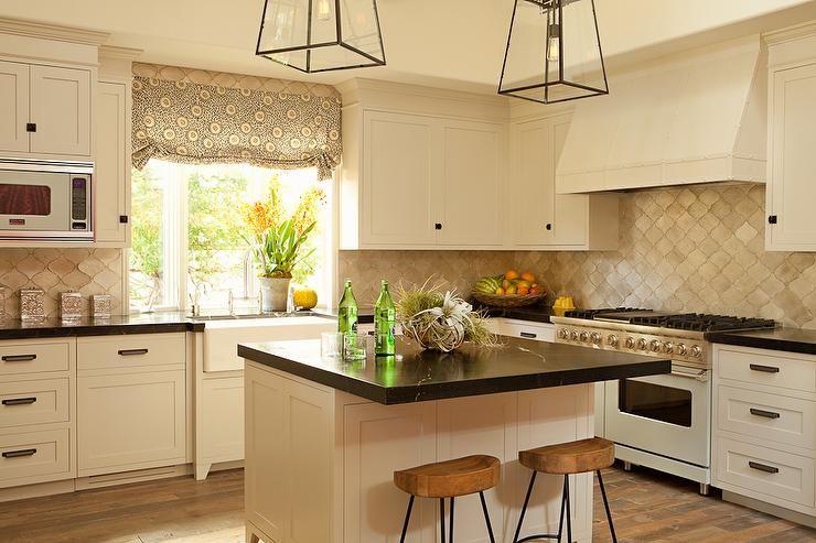 Cream Cabinets Black Granite Perfect Kitchen Color Scheme Dark