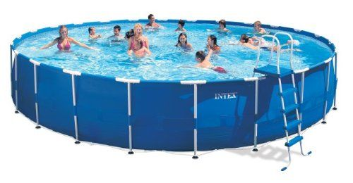 Intex Metal Frame Pool Set 24 Feet By 52 Inch Intex Http Www Dp B00aa Portable Swimming Pools Swimming Pools Backyard Above Ground Swimming Pools