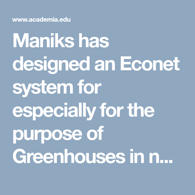 Maniks Systematic And Adiabatic Econet System Docx