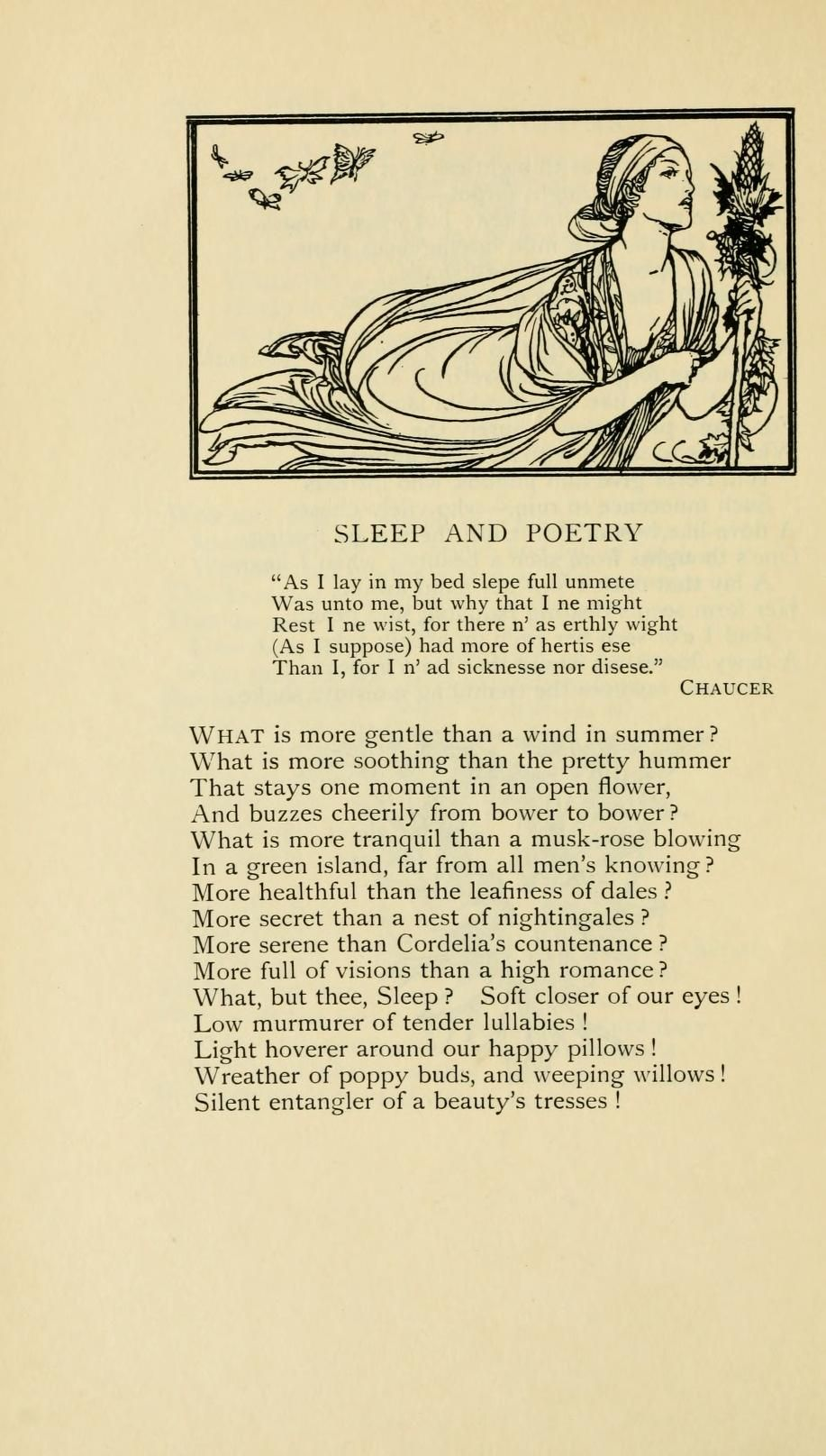 In The Arm Of Sleep Photo Chaucer Quote Drake About Love Geoffrey Quotes Poem Ode To Autumn By John Keats Appreciation Keat Critical Analysi Pdf