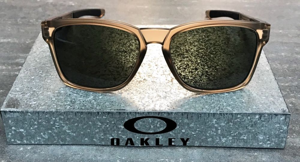 New Oakley Catalyst Sunglasses Matte Sepia W Dark Grey Lens Sunglass Oo9272 01 Fashion Clothing Shoes A Sunglasses Accessories Sunglasses Oakley Sunglasses