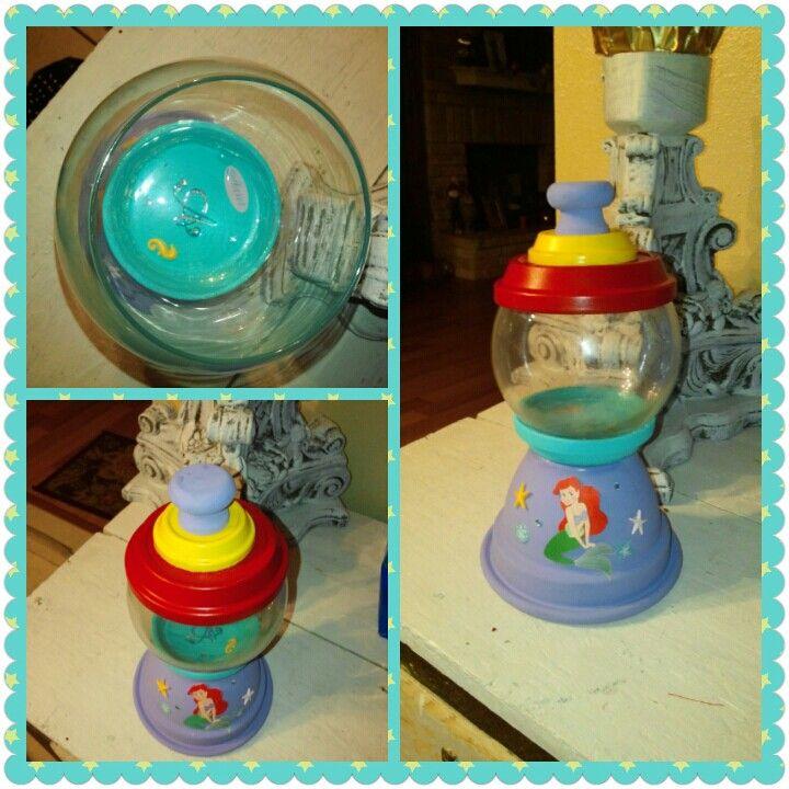 She's Crafty little mermaid candy jar