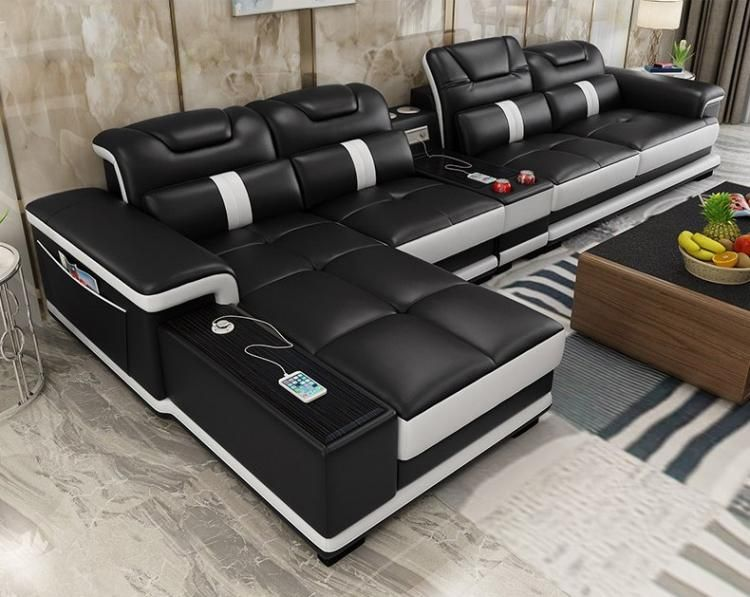 Ultimate Couch Giant Leather Sectional Couch With Integrated Massage Chair Couch With Speakers Couch W Sofa Set Furniture Sofa Set Leather Sectional Sofas