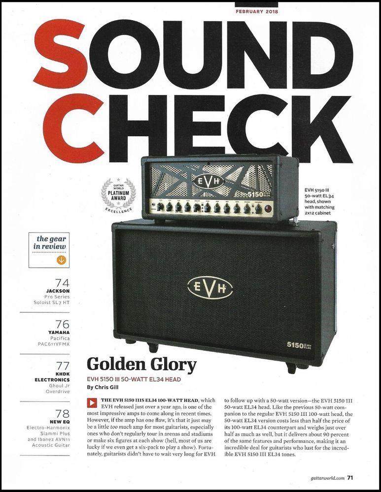 e8f80463c71 EVH 5150 III 50-Watt EL-34 Guitar Amp Sound Check 8 x 11 Gear Review  article  EVH