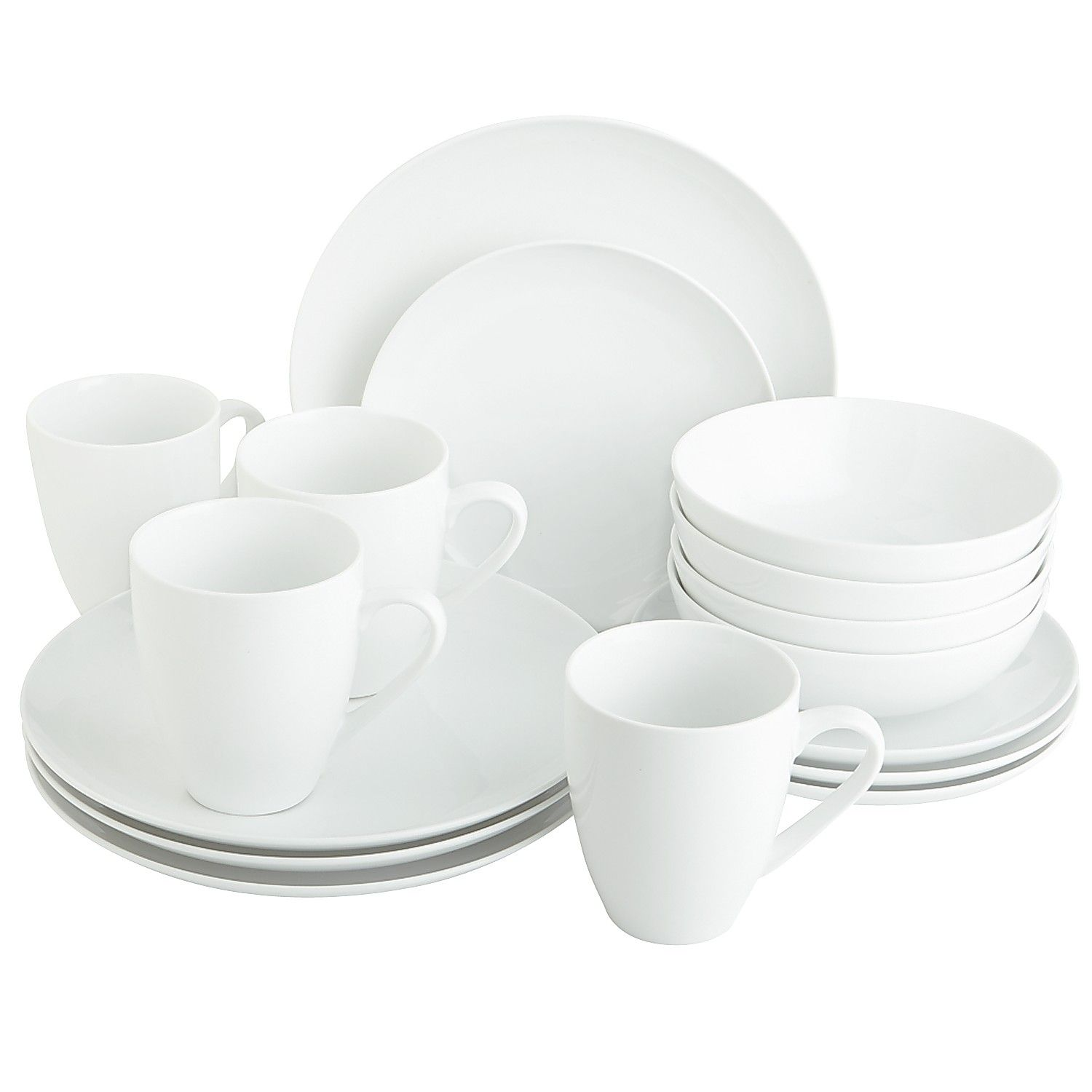 Porcelain 16-Piece Coupe White Dinnerware Set  sc 1 st  Pinterest & Porcelain 16-Piece Coupe White Dinnerware Set | Dinnerware and Porcelain