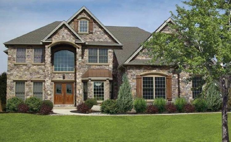 7 Different Types Of Natural Stone For Your Home Stone Exterior Houses Outside House Decor House Plans With Pictures