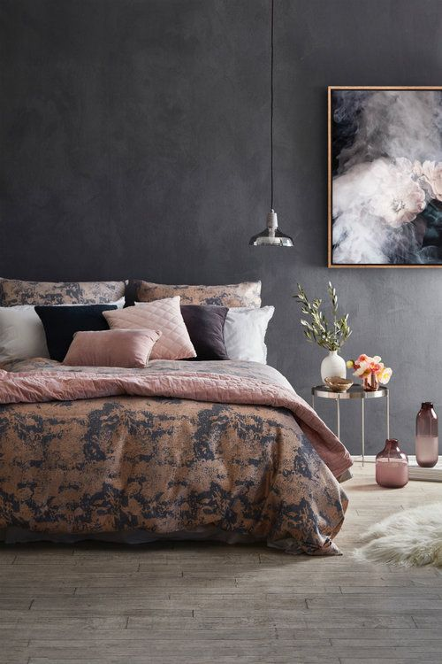 calm bedroom blush and grey dulux effects bedroom art