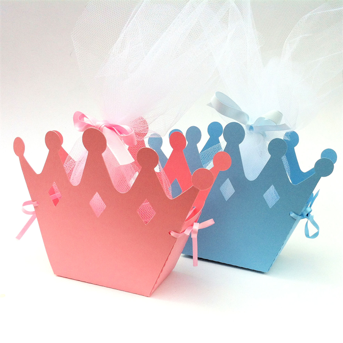 crown gift boxes baby shower birthday party gift bag favors little