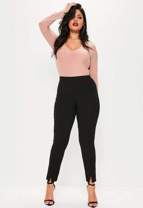 472c5bdcf Missguided Plus Size Black Skinny Fit Cigarette Pants