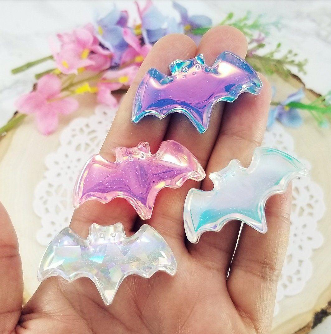 4 Glitter Handbag Purse Craft Flatback Acrylic Resin Decoden Kawaii UK Cabochon