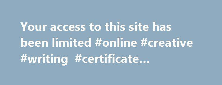 certificate programs in creative writing