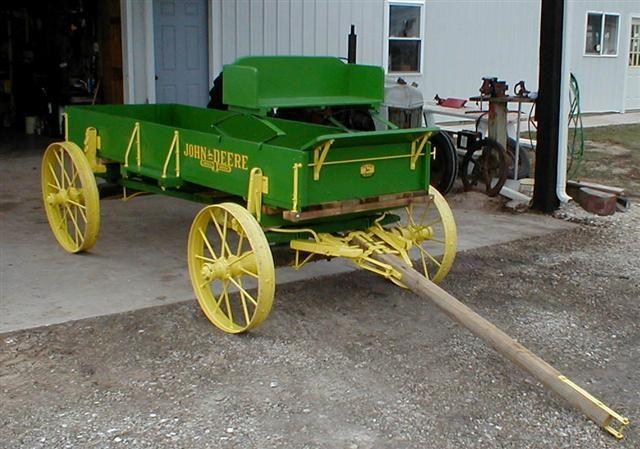 Restored John Deere wooden wagon on Steel wheels for sale ...