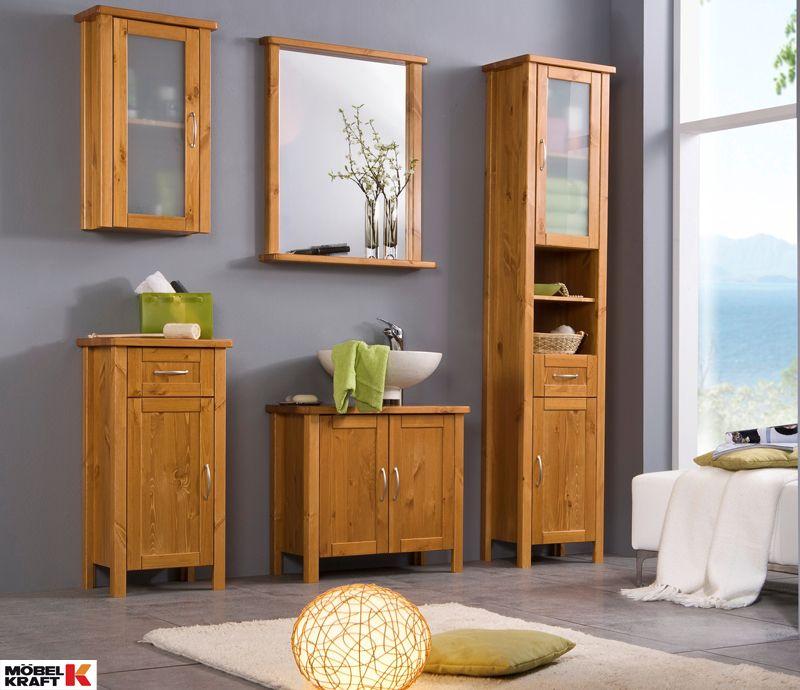 Holzmobel Bringen Warme Ins Badezimmer Gefunden Bei Mobel Kraft