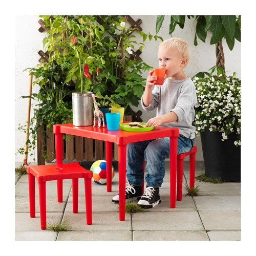 Ikea Utter Childrens Table And 2 Chairs Red You Can Get More Details By Clicking On The Image Childrens Table Ikea Kids Ikea