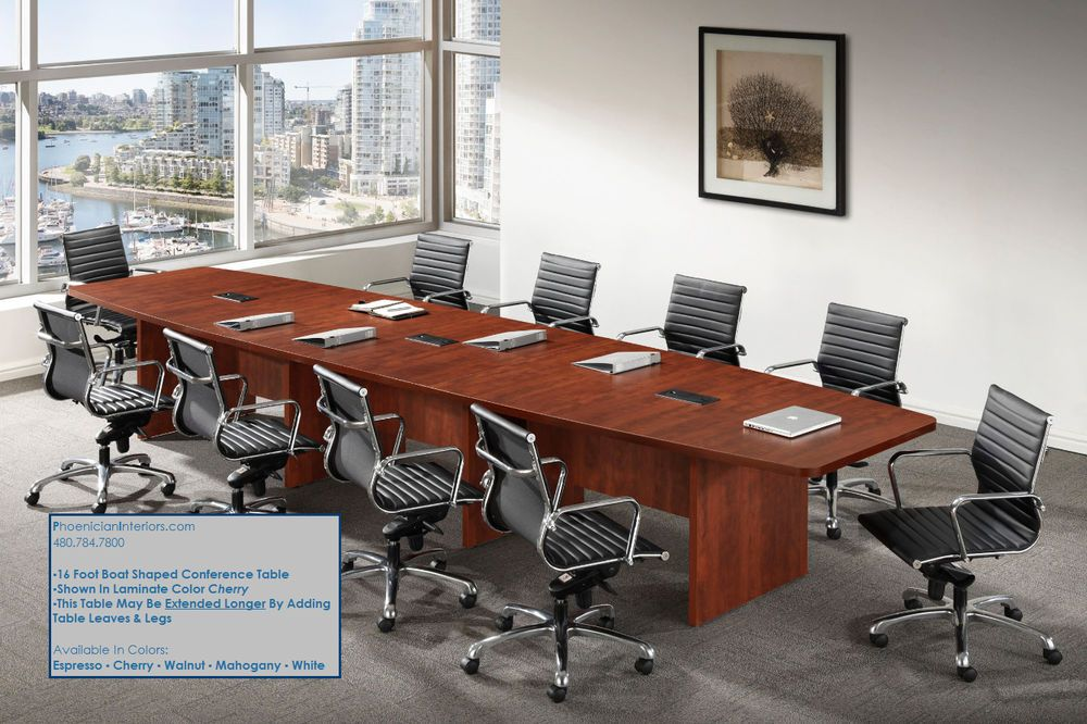 16 Conference Chairs Choose From 5 Styles Boat Shaped Conference Table Info Chairs Info Conference Table Conference Room Design Compact Table And Chairs