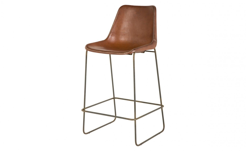 Surprising Brown Leather Cross Stitch Detail At Seams Iron Base Frankydiablos Diy Chair Ideas Frankydiabloscom