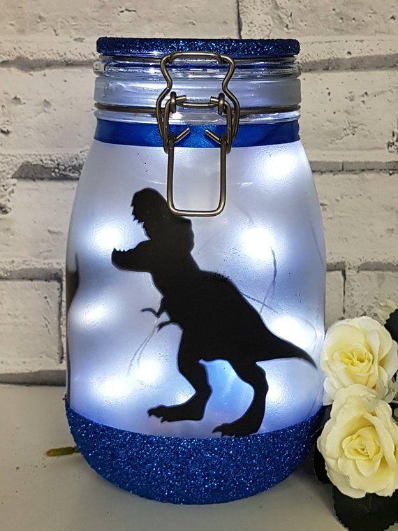 Dinosaurier Nachtlicht, T-Rex Lampe, große Fee Leuchten Jar, Dinosaurier-Lampe, Dinosaurier-Licht, Dinosaurier-Dekor, Dinosaurier-Kinderzimmer-Dekor #fairylights