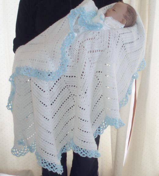 Crochet Pattern For Baby Christening Star Shawl Blanket Afghan Pdf 8
