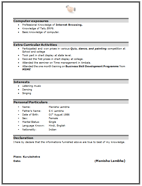 Mba Resume Sample Page 2 Career Resume Resume Format Latest