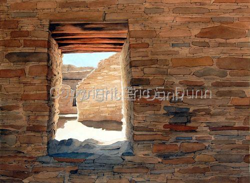 More Chaco Canyon paintings! - Chetro Window