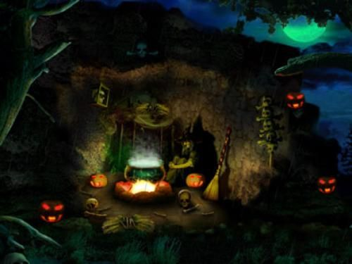 Captivating Be Scared And Spooked As You Sit Around The Campfire In This 3D Halloween  Scene With