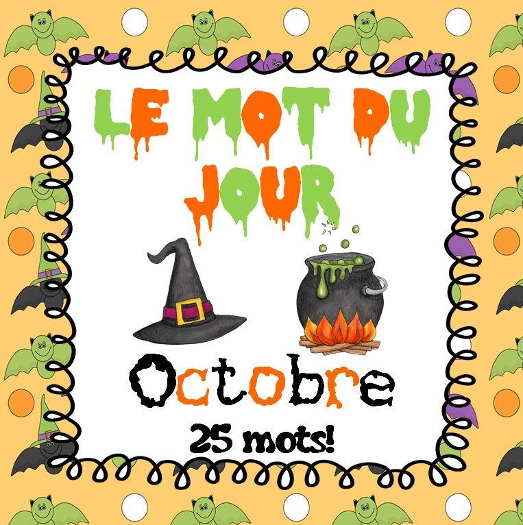 FRENCH Le mot du jour Octobre (Halloween & Thanksgiving
