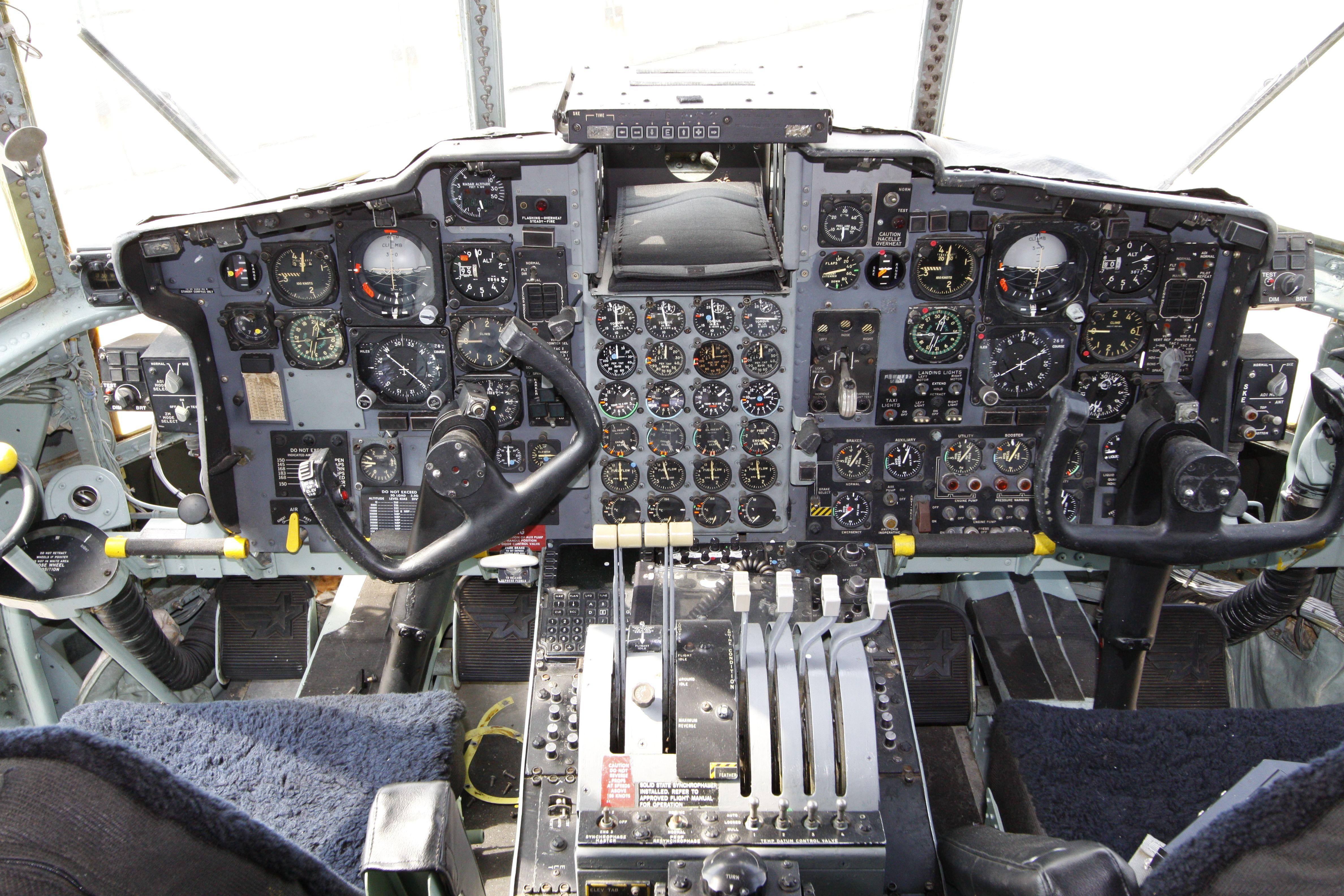 "Lockheed C-130E ""Hercules"" cockpit"