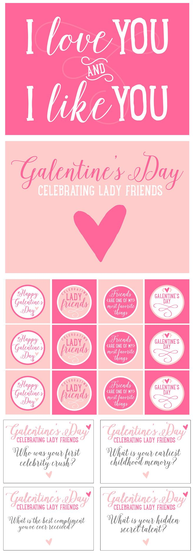 Free Galentine S Day Party Printables Pizzazzerie Happy Galentines Day Galentines Day Ideas Galentines