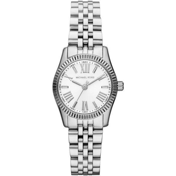 c7b8b56e9775 Women s Mini-Size Silver Color Stainless Steel Lexington Three-Hand Watch - Michael  Kors